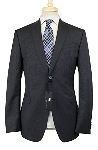 Z Zegna Gray Nailhead Wool Blend 2 Button Suit Size for sale  Delivered anywhere in USA
