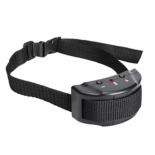 No Bark Shock Dog Collar, 7 Sensitivity Levels Adjustable Dog Training Collar-No Harm, No Pain Vibration, Adjustable Buckles for Small, Medium Large Dogs-Prevent Barkin, Black