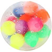 Nayels Squishy Rainbow Stress Ball Fidget Toy with DNA Colorful Beads Inside Relieve Stress Anxiety Hand Exercise Tool…