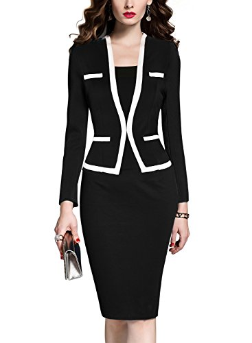 mushare womens colorblock wear to work business party bodycon one piece dress