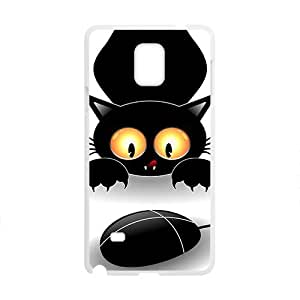 Black Cute Cat Play With Mouse Phone For SamSung Galaxy S5 Mini Case Cover
