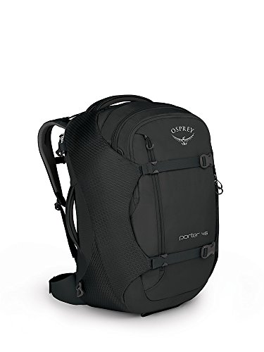 Osprey Packs Porter 46 Travel Backpack, Black, One Size