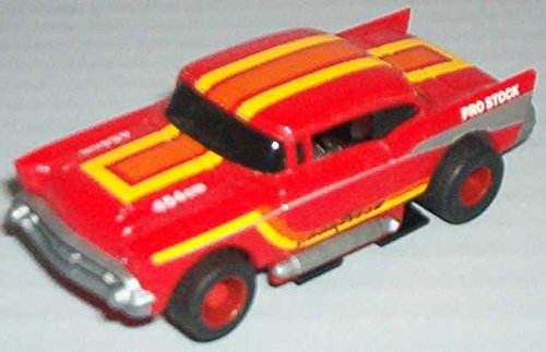 Mattel TYCO HO Scale 440x2 1957 Chevy Slot Car red (s8991bb)