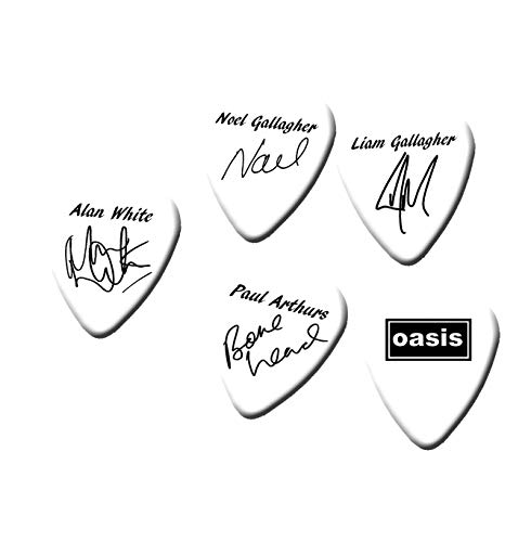 Famous Guitar Pick 18 Necklace Black & White print oasi Jewelry & Watches Fashion Jewelry