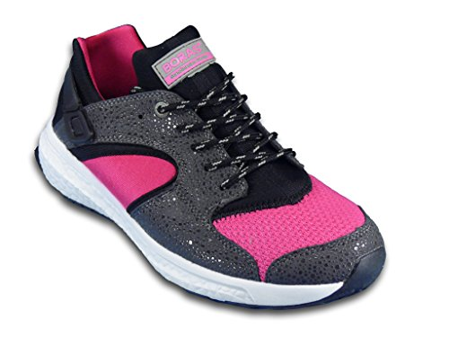 BORAS SIROCCO, Ultraleichte High-Tec Sneakers, graphite/black/pink pink