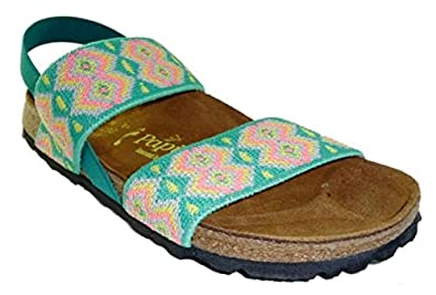 435c1517021a2 Papillio Birkenstock 423493 Caterina Women Sandals Shoes Flip Flops Aztec  Green Size: 3 UK