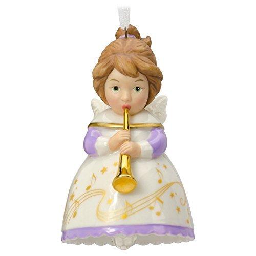 Hallmark 2016 Heavenly Belles Angel Porcelain Bell Christmas Ornament