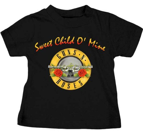 Guns N Roses Sweet Child O' Mine Toddler Rock and Roll Music T-Shirt Black (3 Toddler)