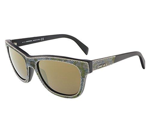 Diesel - DENIMEYE DL 0111, Wayfarer, acetate, men, BLUE SPOTTED GREEN JEANS BLACK/OLIVE(98G), - Dl Eyewear