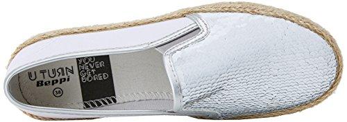 Silver BEPPI Zapatillas de Plateado para Shoe Mujer Casual Deporte OFOS4