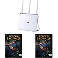 TP-LINK AC1900 Dual Band Wireless AC Gigabit Router and League of Legends Gift Card