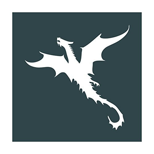 Auto Vynamics - STENCIL-DRAGON-04 - Dragon Design 4 Individual Stencil from Detailed Castle & Dragons Stencil Set! - 10-by-10-inch Sheet - Single (Boy Fairy Tale Graffiti)