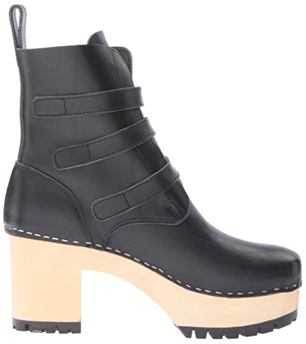 Buckle Swedish Hasbeens Boot Black Women's ww4Edr