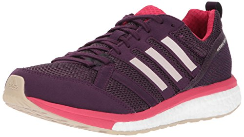 adidas Women's Adizero Tempo 9 w Running Shoe, Red Night/Ice Energy Pink, 7.5 Medium US