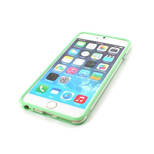 Iphone 6/6s Silicon Bumper Transparent Green by G4GADGET®