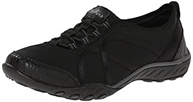 Skechers Sport Women's Easy Fortune Fashion Sneaker, Black, 6 M US