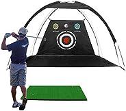 Golf Practice Net, Hitting Driving Target Net for Indoor Outdoor Garden Backyard,Black