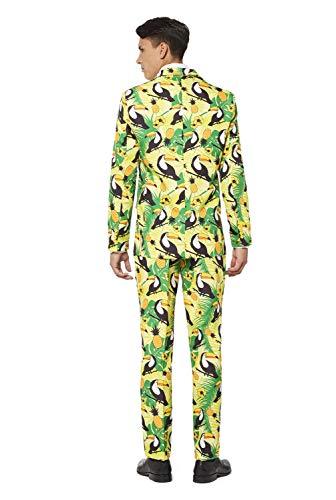 Veste Colorés Avec Pantalon Cravate Costume Amusants amp; Tropical Costumes Motifs Pièces Green nbsp; Complet 3 – Offstream UFnwPqH5Ex