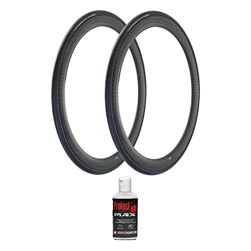 Hutchinson Fusion 5 Performance Tubeless Bike Tires (2-Pack, 700x28, ElevenSTORM Compound) with Protect Air Anti-Puncture Sealant Kit