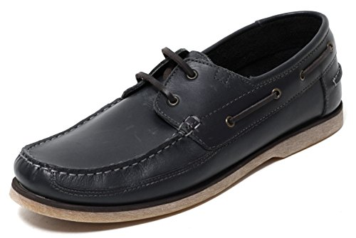 Herren Leder Mokassins in Navy Gr. 42-45