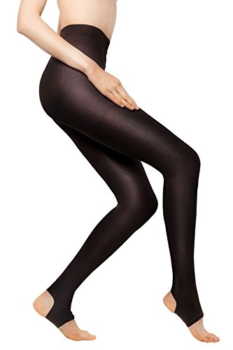 Open Toe Maternity Pantyhose (MD 15-20mmHg Women's Open Toe Compression Pantyhose For Winter Medical Quality Stocking BrownM)