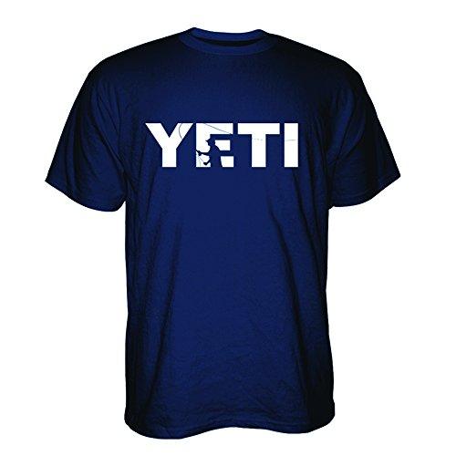 YETI Double Haul Casting T-Shirt Short Sleeve Navy Blue X-Large ()