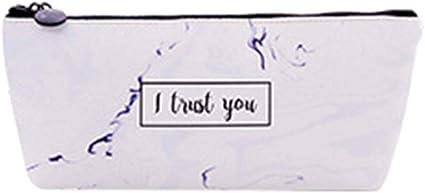 1 estuche de papel de carta de Fansi, modelo de alfabeto inglés simple y fresco, estuche para el colegio y las necesidades diarias, color azul claro 21cm*10cm*3.5cm: Amazon.es: Oficina y papelería