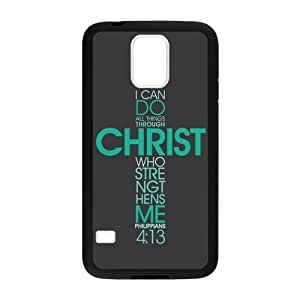 Jesus Christ Sacred Heart - Bible verse - Christian verses SamSung Galaxy S5 Protective Case (Laser Technology)