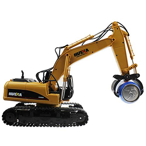 YXWJ RC Truck 16 Channel 2.4G RC Alloy Timber Grab Excavator Rechargeable...