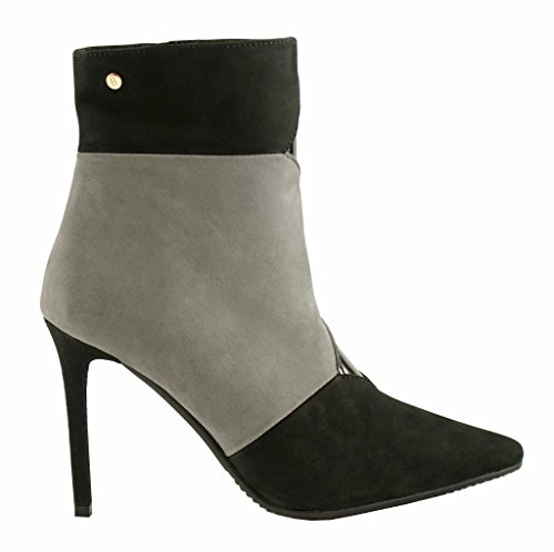 Booties Leder Cuir Stiefeletten BOSCCOLO 4353 54 Bottes 55 Heels Leather High Grey Boots ZpW0zqw