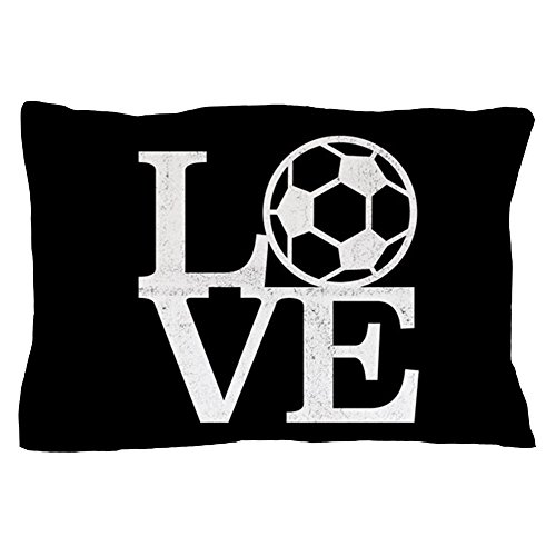 CafePress - Love Soccer - Standard Size Pillow Case, 20''x30'' Pillow Cover, Unique Pillow Slip by CafePress