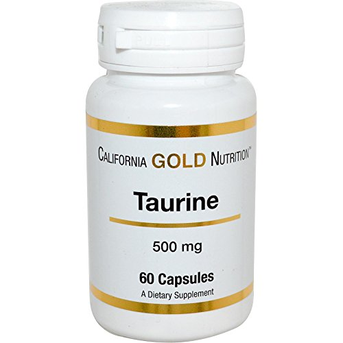 California Gold Nutrition, Taurine, 500 mg, 60 Capsules