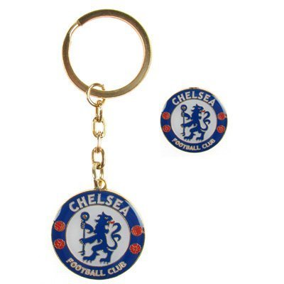 Chelsea F.C. Keyring & Badge Set - Chelsea Plush