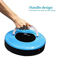 FINE DRAGON Robot Sweeper Automatic Floor Cleaning Robot Sweeping Robotic Machine with Portable Handle (Blue)