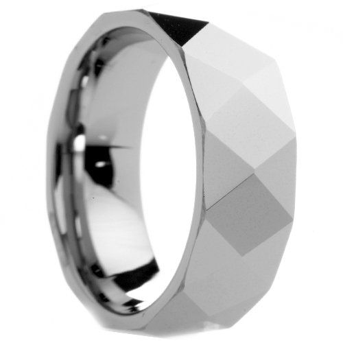 13.5 12.5 7.5 /& 12 8 9 11.5 10.5 8.5 Size 7 10 8 mm Mens Tungsten Carbide Rings Wedding Bands Diamond Faceted Center Free Engraving 13 11 9.5