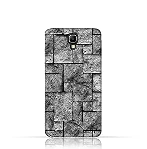 Samsung Galaxy Note 3 Neo TPU Silicone Case with Stoney Wall Pattern Design.