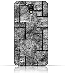 Compatible with Samsung Galaxy Note 3 Neo TPU Silicone Case with Stoney Wall Pattern Design.