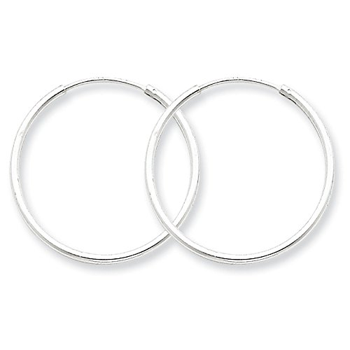 - Designs by Nathan, Endless 925 Sterling Silver Seamless Tube Hoop Earrings, 15 Styles and Sizes (Slender 1.3mm x 25mm)