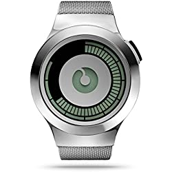 Ziiiro Saturn Z0008WSS Silver Mens Digital Watch
