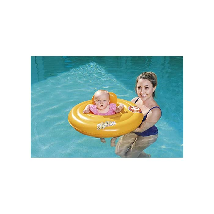 41QduaWi9AL Flotador rosco con asiento para bebe. Flotador para bebés. Asiento con estilo de pañal.