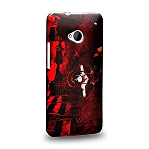 Case88 Premium Designs Date A Live Kurumi Tokisaki 1476 Protective Snap-on Hard Back Case Cover for HTC One M7 by icecream design