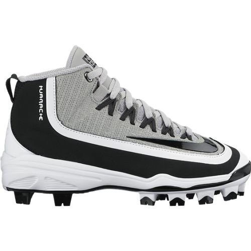 NIKE Boy's Huarache 2KFilth Pro (GS) Baseball Cleat Grey/Anthracite/White/Black Size 3.5 M US