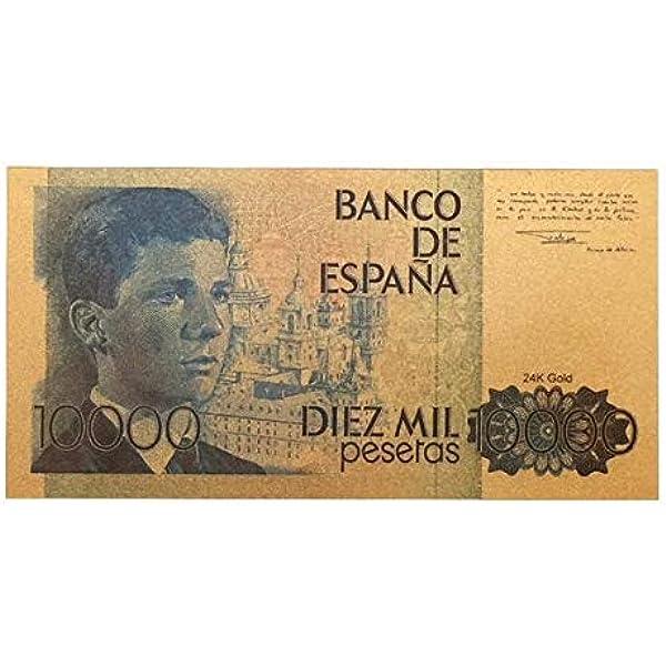 IMPACTO COLECCIONABLES España, 10.000 Pesetas en Oro de 24k. Príncipe Felipe: Amazon.es: Juguetes y juegos