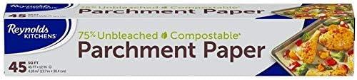 Kitchens Unbleached Parchment Paper 45 Square Feet Value Pack