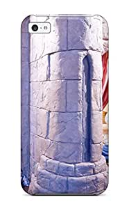 Hot Shock-dirt Proof Child8217s Fantasy Castle Bedroom With Knight Armor Case Cover For Iphone 5c