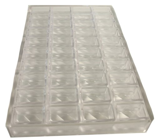 Martellato Polycarbonate Chocolate Mold, Rippled Rectangle by Paderno World Cuisine