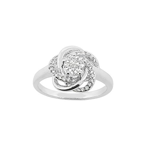 Cate & Chloe Stella Cosmic 18k White Gold Plated Ring, Silver Ring, Best Ring for Women, Teens, Girls, Engagement Ring, Wedding Ring, Bridal Jewelry, Promise Ring (7) - msrp (18k Date Ring)