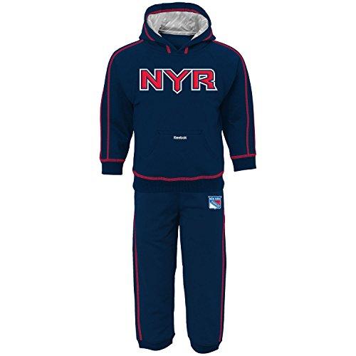 NHL Reebok New York Rangers Toddler Pullover Fleece Hoodie & Pants Set - Navy Blue (Nhl Childs Replica Jersey)