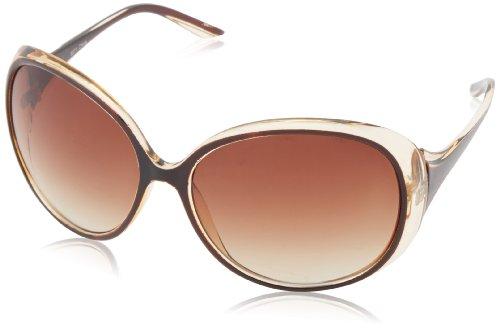 MLC Eyewear Trendy Oval Sunglasses,Brown & Black,60 - 2014 Sunglasses Trendy