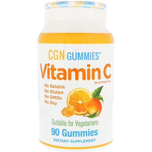 California Gold Nutrition Vitamin C Gummies Gluten-Free Non GMO No Gelatin Natural Orange Flavor 90 Gummies, Milk-Free, Egg-Free, Fish-Free, Gluten-Free, Peanut Free, Shellfish Free, Soy-Free, CGN
